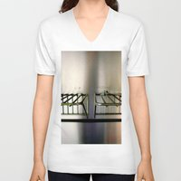 metal V-neck T-shirts featuring Metal On Metal by oneofacard