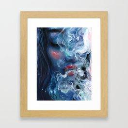 Blissful Blue Framed Art Print