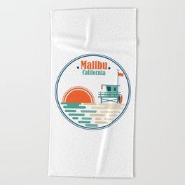 Malibu, California Beach Towel