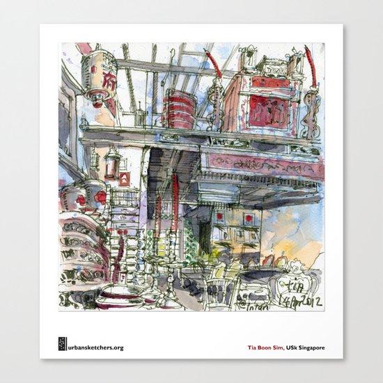 "Tia Boon Sim, ""The Intan, Singapore"" Canvas Print"