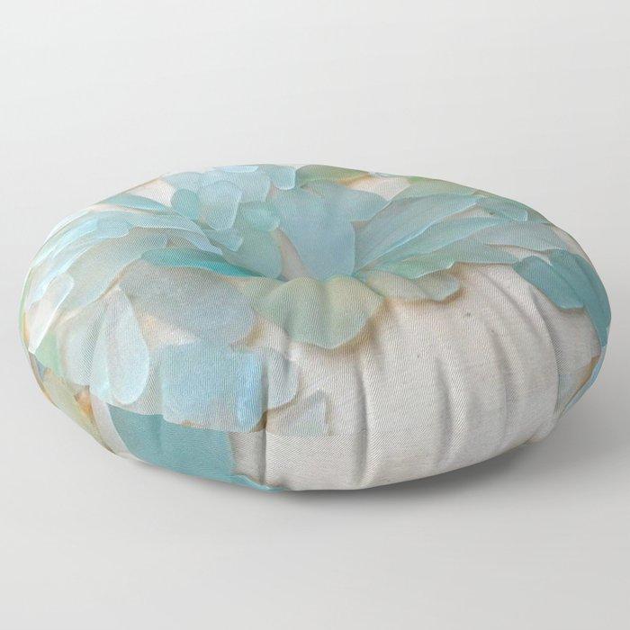 Ocean Hue Sea Glass Floor Pillow