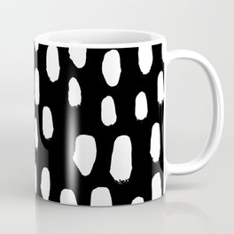 Spots black and white minimal dots pattern basic nursery home decor patterns Coffee Mug