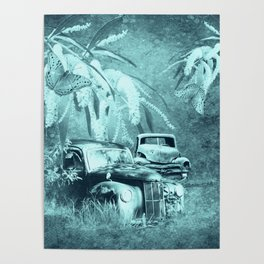 cars and butterflies in moonlight Poster