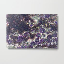 Pixelated Urchins Metal Print