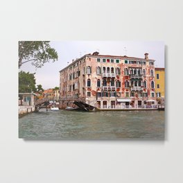 Venice seen from a boat. Metal Print