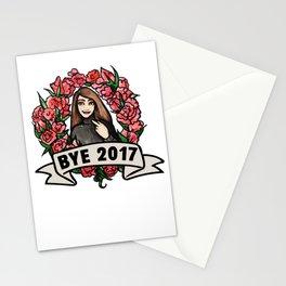 Bye 2017 Stationery Cards