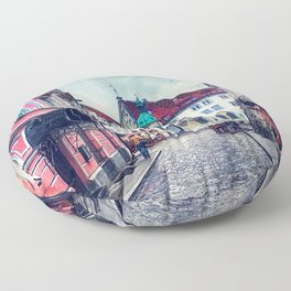 Tallinn art 11 #tallinn #city Floor Pillow