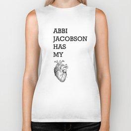 """Abbi Jacobson has my heart"" Biker Tank"
