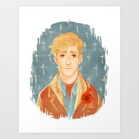 kieren walker Art Prints featuring Kieren Portrait by Cy-lindric
