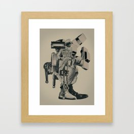 The Menace of Any Shadow Framed Art Print