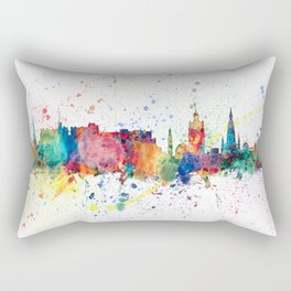 Edinburgh Scotland Skyline Rectangular Pillow
