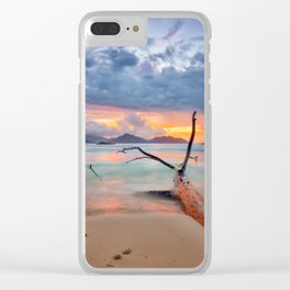 colors of seychelles Clear iPhone Case
