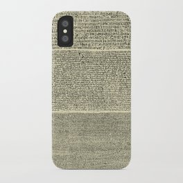 The Rosetta Stone // Parchment iPhone Case
