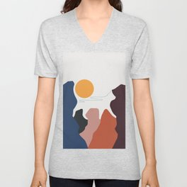 Cat Landscape 7 Unisex V-Neck
