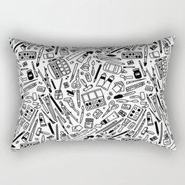 art supply explosion Rectangular Pillow