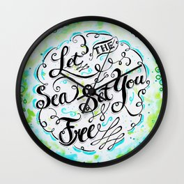 Let the Sea Set You Free by Jan Marvin Wall Clock
