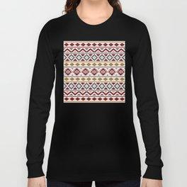 Aztec Essence Ptn III Red Blue Gold Cream Long Sleeve T-shirt