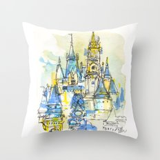 Cinderella's Castle Magic Kingdom  Throw Pillow