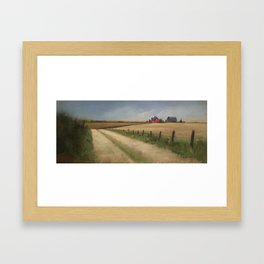 House in Field Framed Art Print
