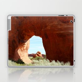 At The End Of The Trail - Pine Tree Arch Laptop & iPad Skin