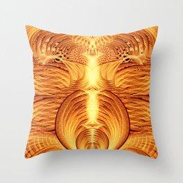 Pheonix Fire Temple Throw Pillow