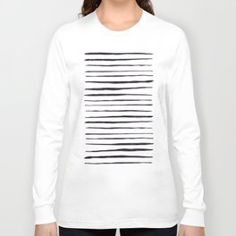 Black Ink Linear Experiment Long Sleeve T-shirt