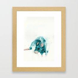 Blue rat Framed Art Print