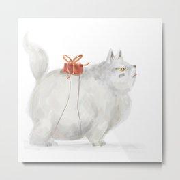 Presents cat Metal Print
