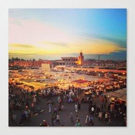 Sunset on Marrakech Canvas Print
