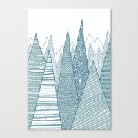 mountains Canvas Prints featuring Mountains by Anita Ivancenko