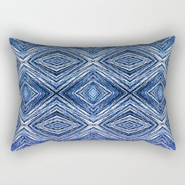 Memories of Woven Grass, Indigo Rectangular Pillow