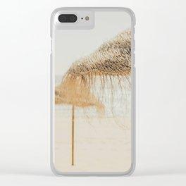 beach dreams Clear iPhone Case