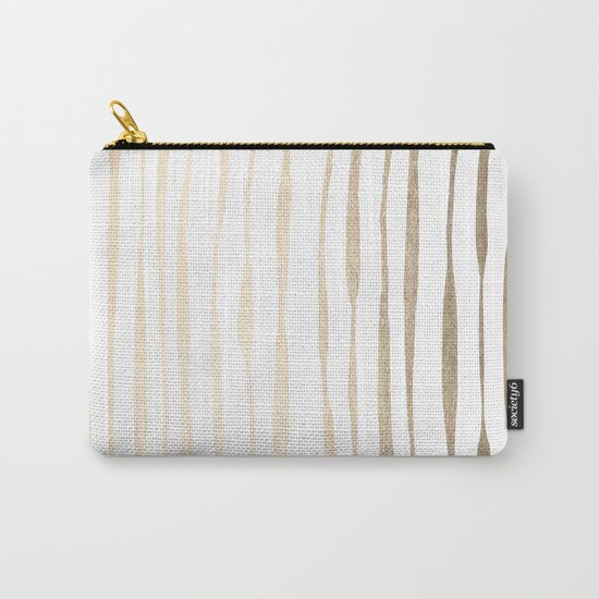 White Gold Sands Ink Pinstripes Carry-All Pouch