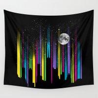 night sky Wall Tapestries featuring Night Sky by Li.Ro.Vi