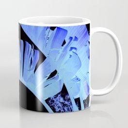 Neon Glow Tropical Palm Fronds Coffee Mug