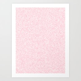 Spacey Melange - White and Pink Art Print