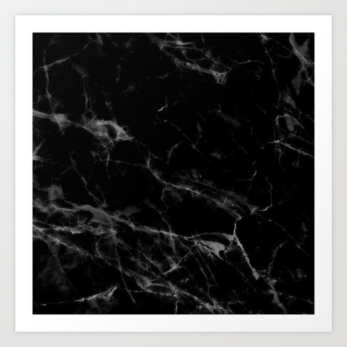 Black Marble Kunstdrucke