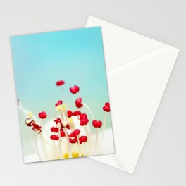 Blooming Candy Red Stationery Cards