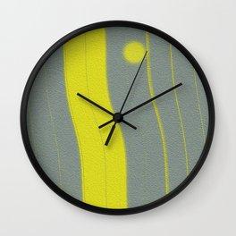Yellow Bar Wall Clock