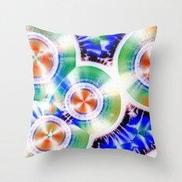 Happy Vitamin C Crystals in Sunlight Throw Pillow