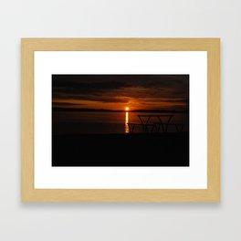 Sun set form Millport Framed Art Print