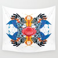 kaleidoscope Wall Tapestries featuring kaleidoscope by Raphaël