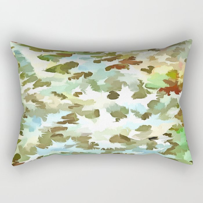 Dusty Miller Abstract Pop Art Rectangular Pillow
