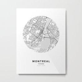 Montreal Circle Map Metal Print