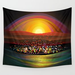 Harbor Square Wall Tapestry