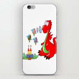 Dragon The Hot Air Balloon Helper iPhone Skin