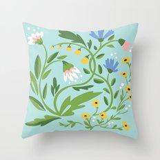 Florals Throw Pillow