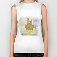castle in the sky Biker Tanks featuring castle in the sky by Ancello