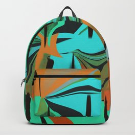 A Happy Orange, Green, and Blue Abstract Backpack