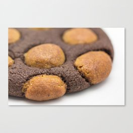 Chocolate-Gingerbread Dough Cookie Canvas Print